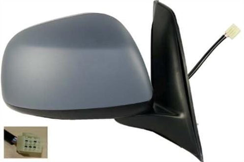 Fiat Sedici Hatchback 2006-2009 Door Mirror Electric Type With Primed Cover (5 Pin) Driver Side R