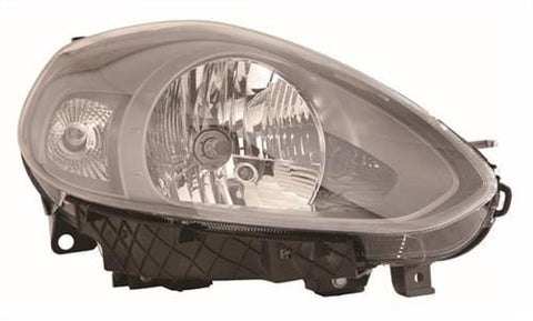 Fiat Punto 5 Door Hatchback  2012-  Headlamp Grey Type With Grey Bezel Driver Side R