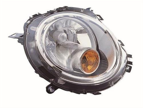 Mini - BMW Cabriolet - Cooper-D Cabriolet 2009-2010 Headlamp Halogen Type With Amber Indicator (Own Brand) Driver Side R