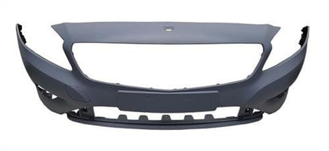 Mercedes A-Class 5 Door Hatchback 2012-2015 Front Bumper No Wash Jet or Sensor Holes - Primed (Standard Models)