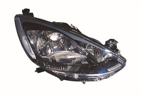 Mazda 2 3 Door Hatchback  2008-2010 Headlamp (Single Reflector Type) Driver Side R