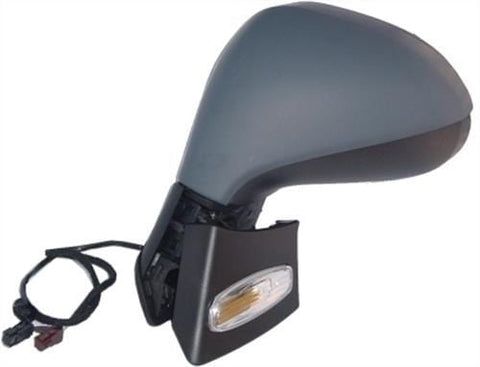 Peugeot 207 3 Door Hatchback  2006-2009 Door Mirror Electric Heated Manual Fold Type With Primed Cover Passenger Side L