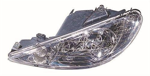 Peugeot 206 3 Door Hatchback  1998-2003 Headlamp Twin Reflector Type Passenger Side L