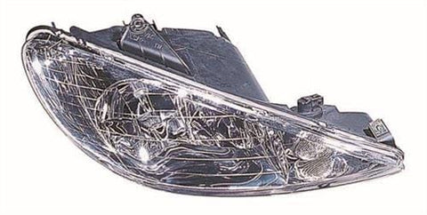 Peugeot 206 5 Door Hatchback  1998-2003 Headlamp Twin Reflector Type Driver Side R