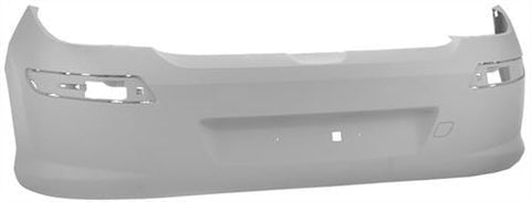 Peugeot 308 5 Door Hatchback  2007-2011 Rear Bumper No Sensor Holes - Primed (Standard Models)