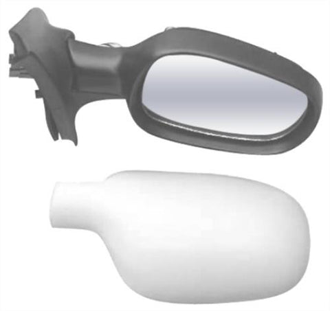 Renault Clio 5 Door Hatchback  2001-2005 Door Mirror Electric Heated Type With Primed Cover Driver Side R