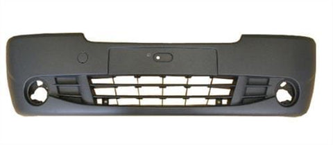 Renault Trafic Van 2007-2014 Front Bumper With Lamp Holes - Black (Standard Models)