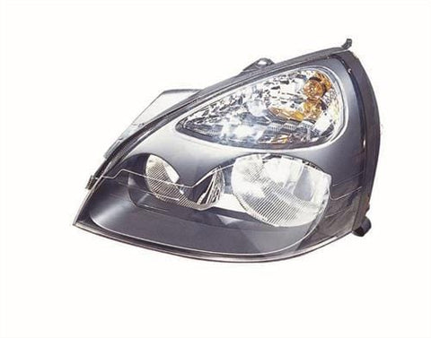 Renault Clio 3 Door Hatchback  2001-2005 Headlamp Halogen Black Type Passenger Side L