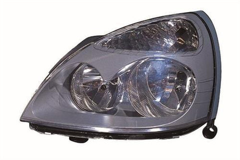 Renault Clio 3 Door Hatchback  2001-2005 Headlamp Halogen Grey Type Passenger Side L