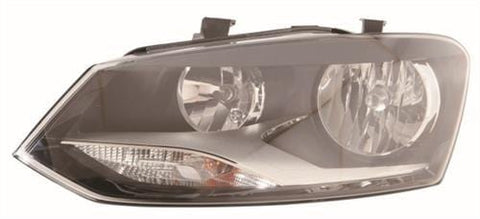 Volkswagen Polo 5 Door Hatchback  2009-2014 Headlamp Twin Reflector - Hella Design (2009-2014) Passenger Side L