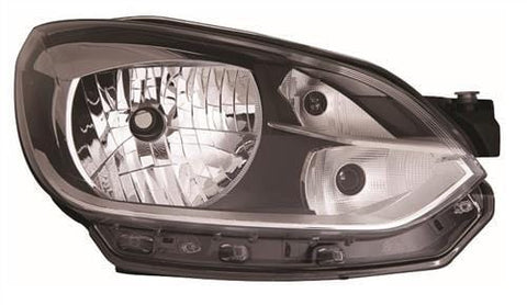 Volkswagen Up! 3 Door Hatchback  2012-2016 Headlamp With Chrome Trim Driver Side R