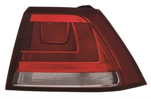 Volkswagen Golf 5 Door Hatchback 2013-2017 Rear Lamp Outer Section - Not LED Version - Red (Standard Models) Driver Side R