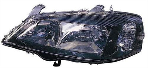 Vauxhall Astra Cabriolet  1998-2006 Headlamp Halogen Black Type Passenger Side L