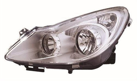 Vauxhall Corsa 5 Door Hatchback  2006-2011 Headlamp Chrome Type (Not Adaptive Lighting) Passenger Side L