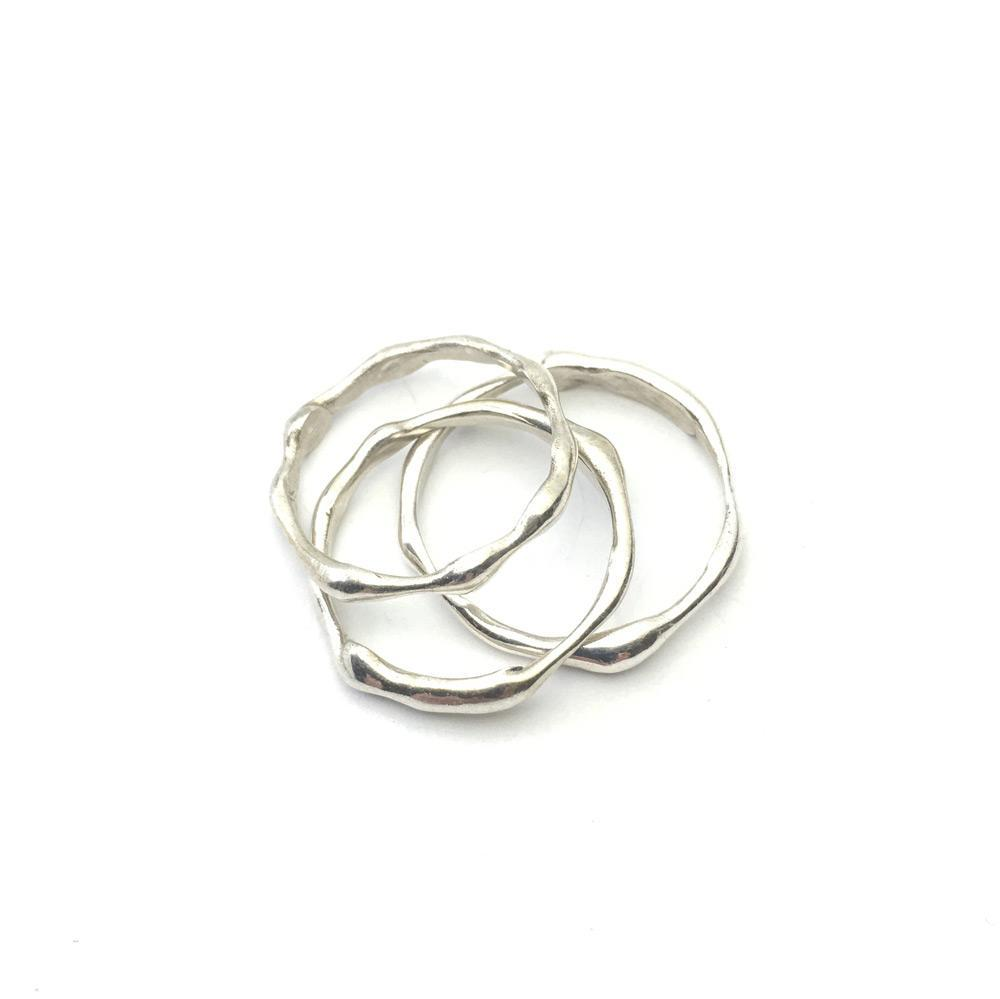 Silver Wavy Rings - Cynabar Boutique