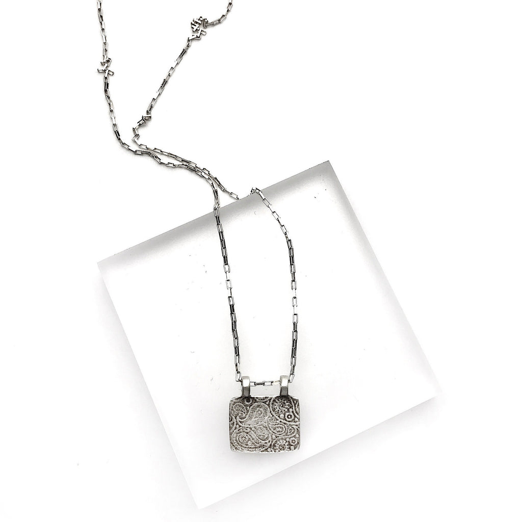 Rectangular Silver Pendant - Cynabar Boutique