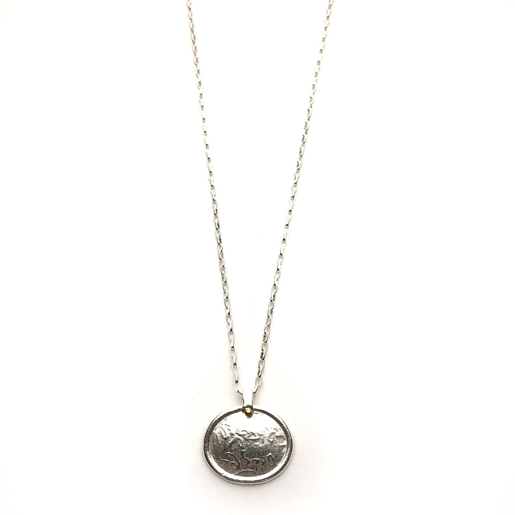 Silver Oval Pendant - Cynabar Boutique