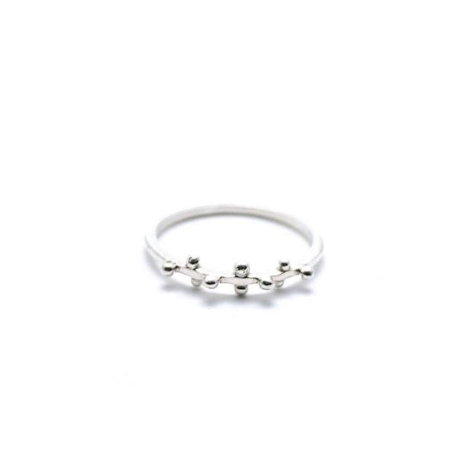 Silver Little Ball Ring - Cynabar Boutique