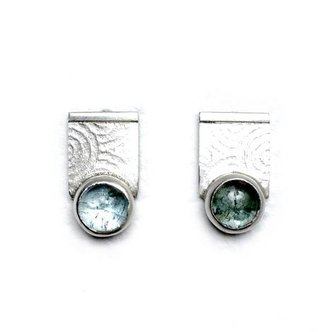 Silver and Aquamarine Earrings - Cynabar Boutique