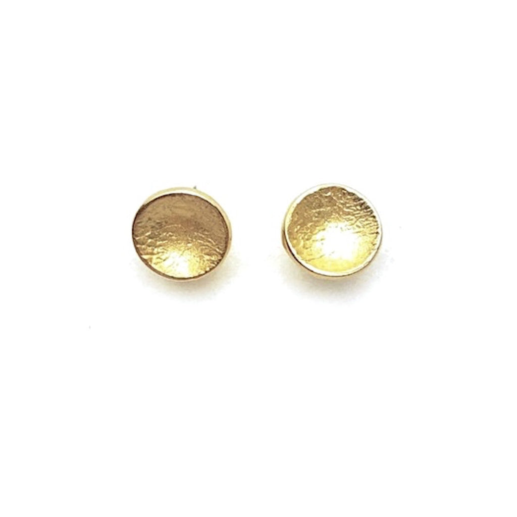 Gold Disc Stud Earrings - Cynabar Boutique