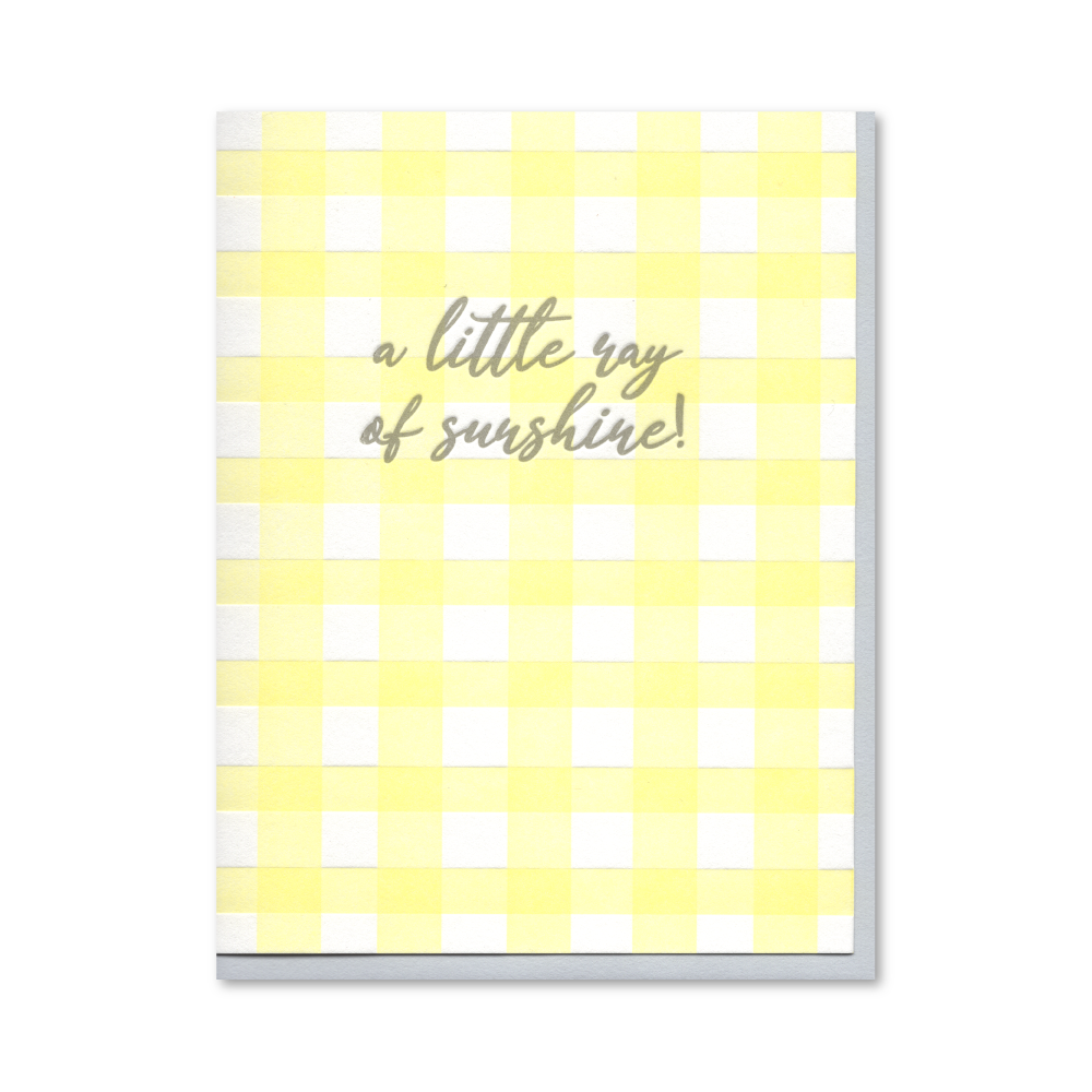 Little Ray of Sunshine Baby Letterpress Card