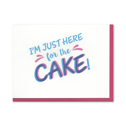 Just the Cake Birthday Letterpress Card