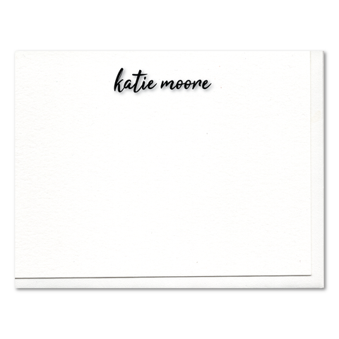 Katie Script Custom Letterpress Stationery