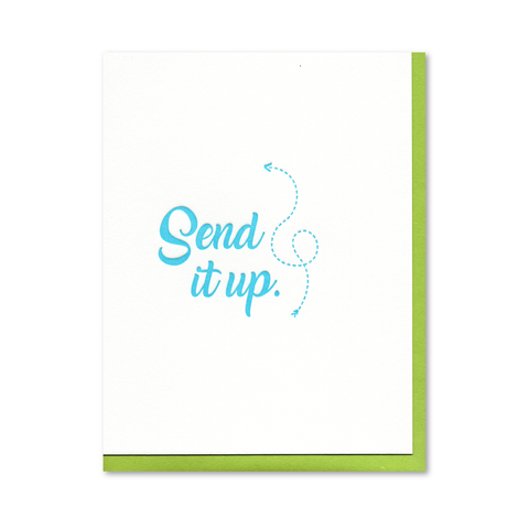 Send It Up Letterpress Card