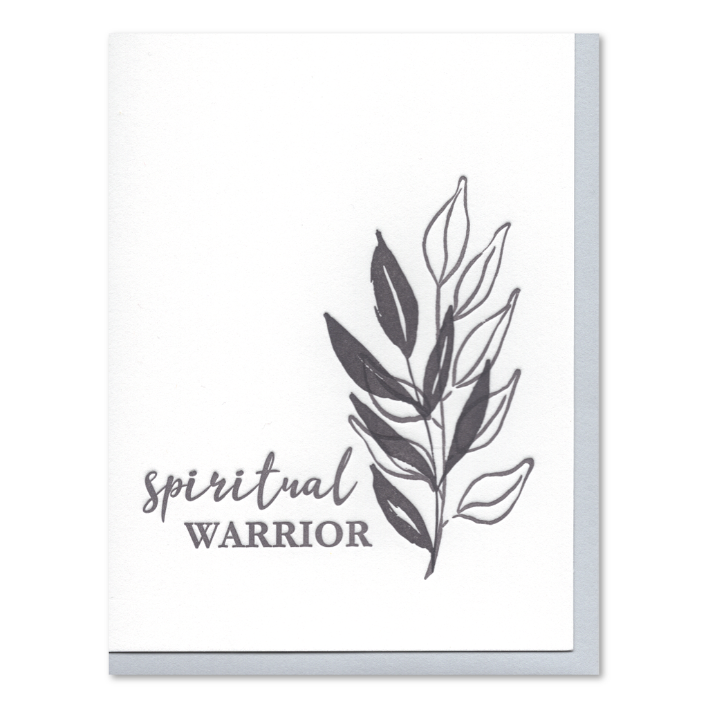 Spiritual Warrior Letterpress Card