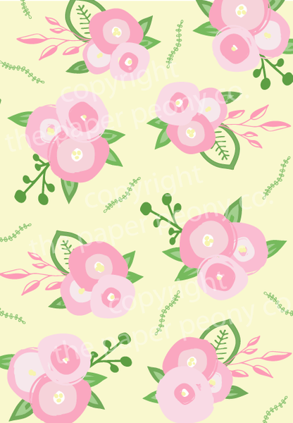 Floral Gift Wrap (roll of 2 sheets)