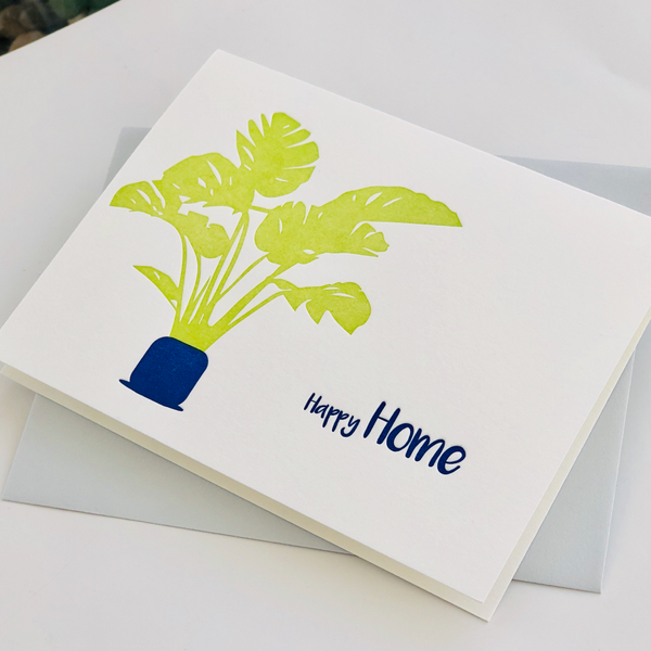 Happy Home Letterpress Card