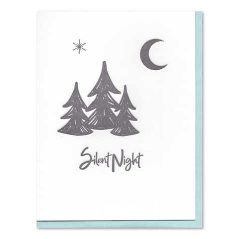 Silent Night Letterpress Card