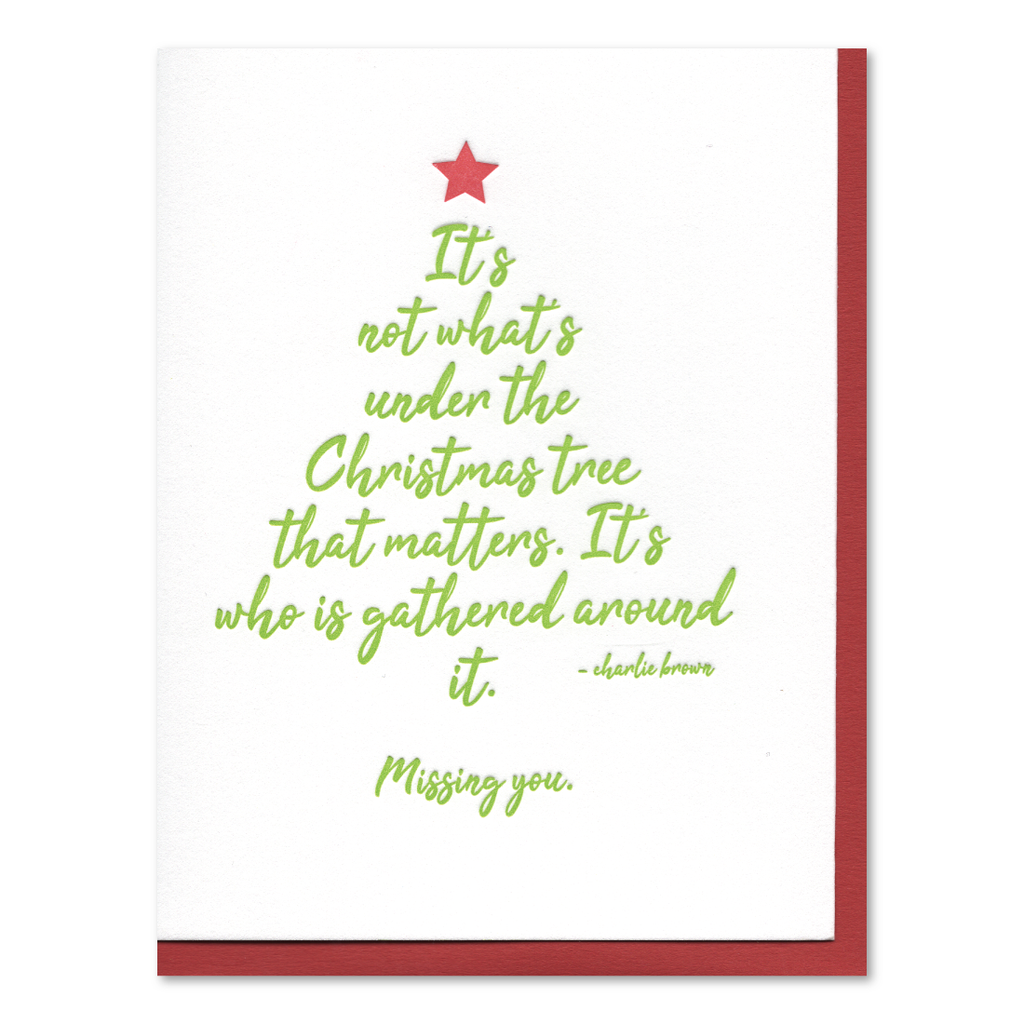 Charlie Brown Christmas Tree Letterpress Card