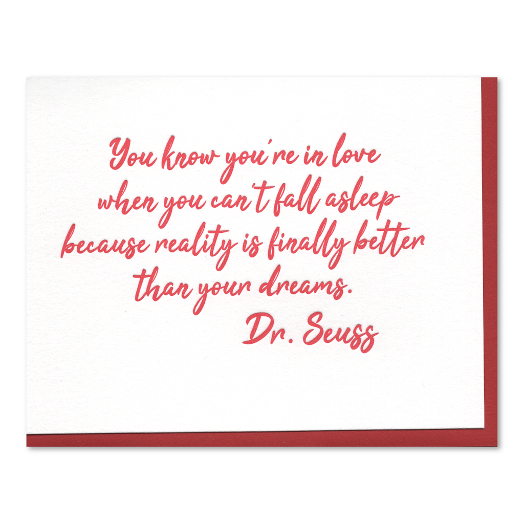 Love Quote by Dr. Seuss Letterpress Card
