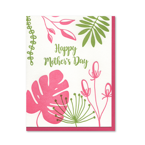 Happy Mother's Day Botanical Letterpress Card