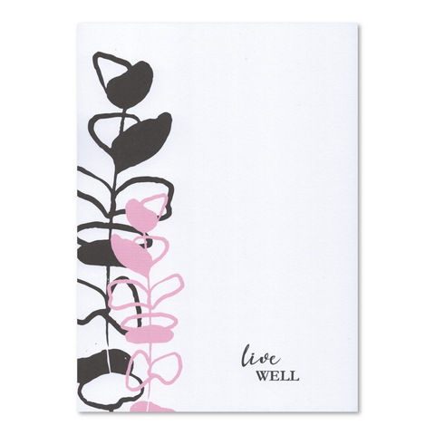 "Live Well 5"" x 7"" Wellness Notepad"
