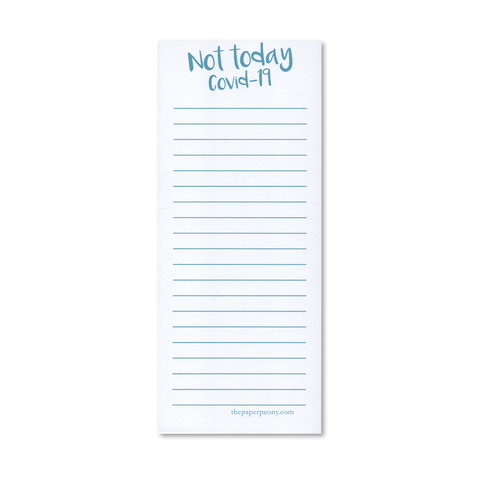 Not Today Covid-19 Notepad