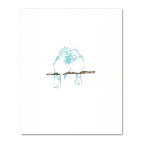 "Two Sparrows 8"" x 10"" Letterpress Art Print"