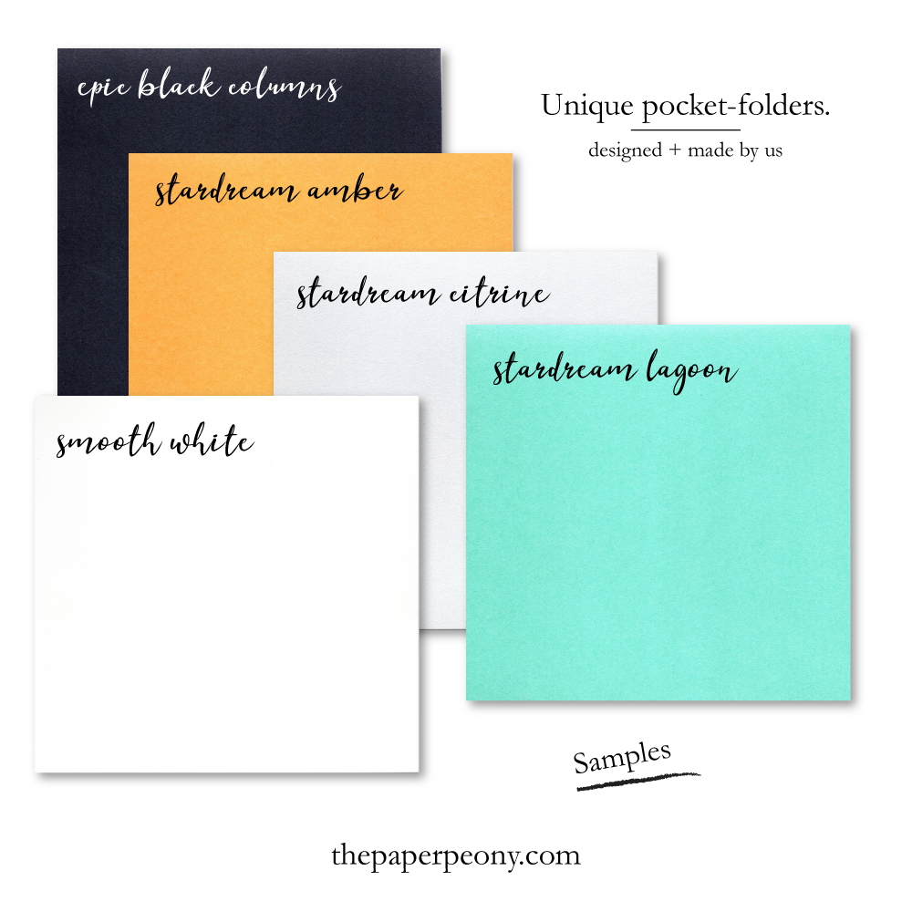 SAMPLE Square Invitation Pocket Folder