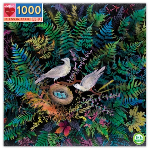 Birds in Fern 1000 Piece Puzzle from eeBoo
