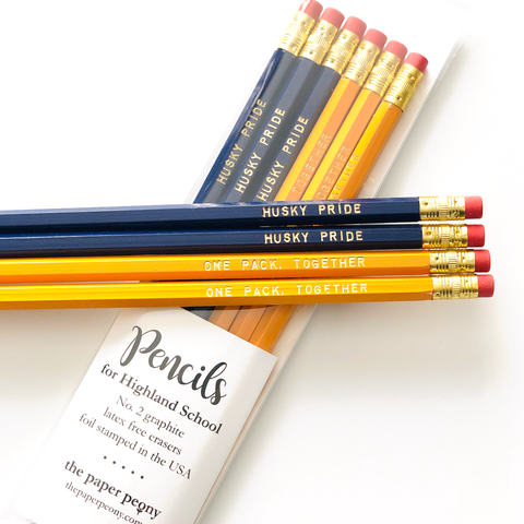 Highland Husky Pride Pencils (Set of 6)