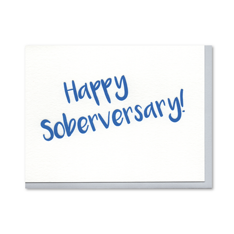 Happy Soberversary Recovery Letterpress Card