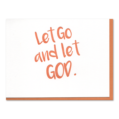 Let Go Recovery Letterpress Card