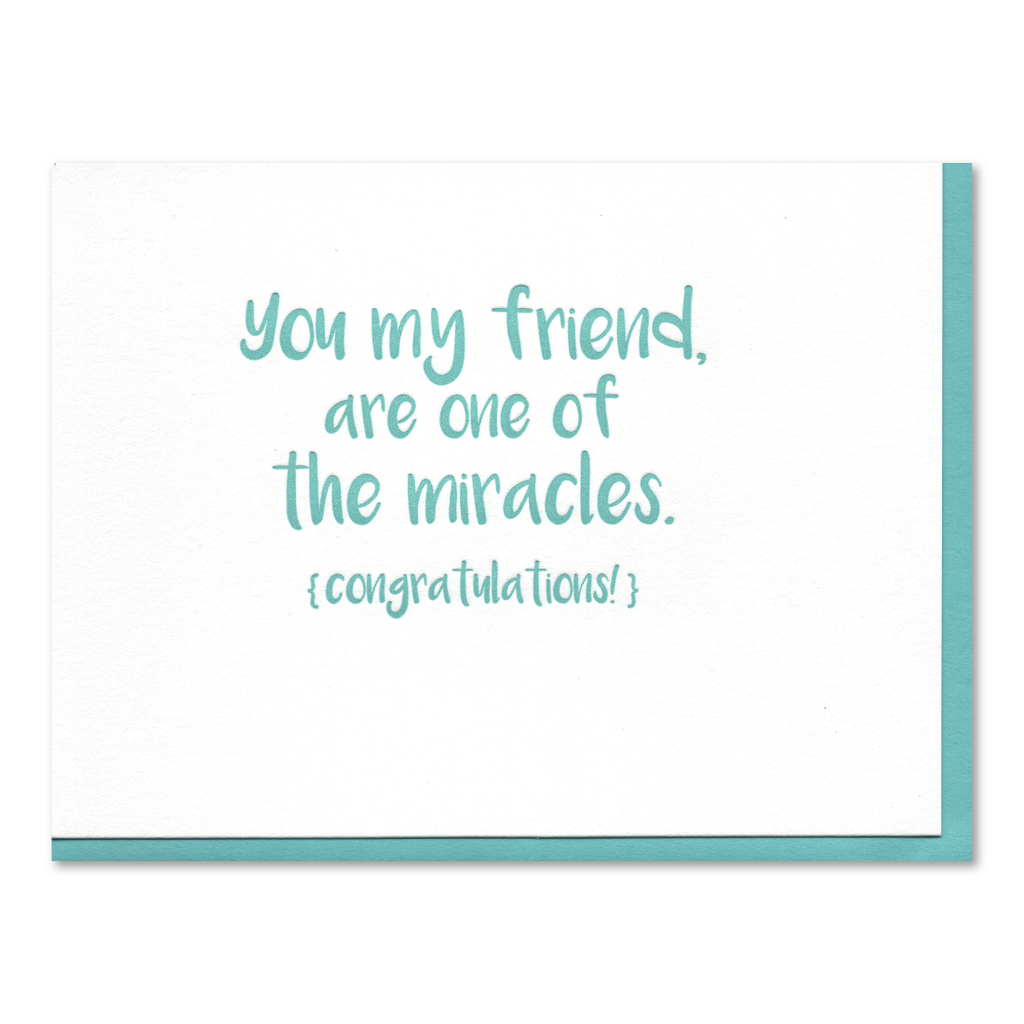 One of the Miracles Recovery Letterpress Card