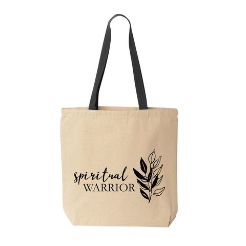 Spiritual Warrior Cotton Canvas Tote