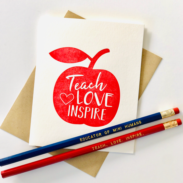 Teacher Card & Pencil Set