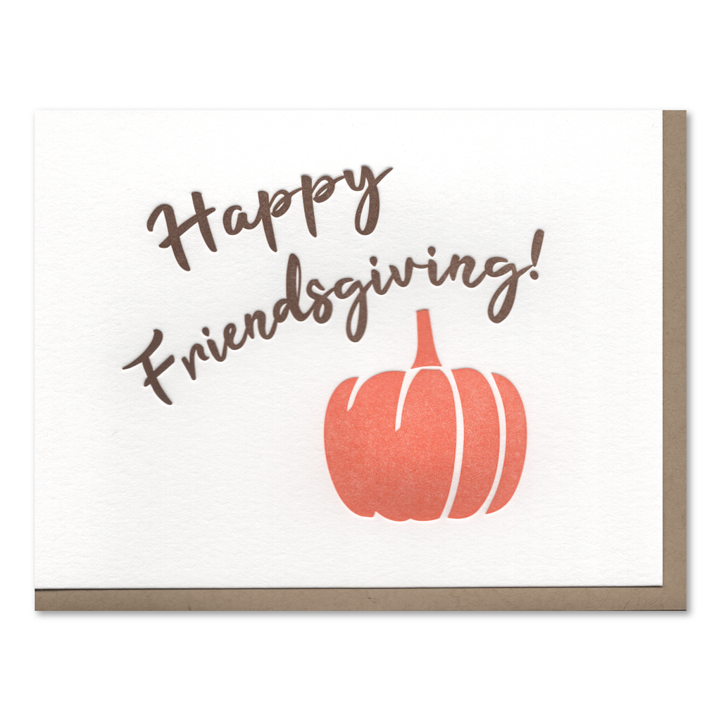 Happy Friendsgiving Letterpress Card