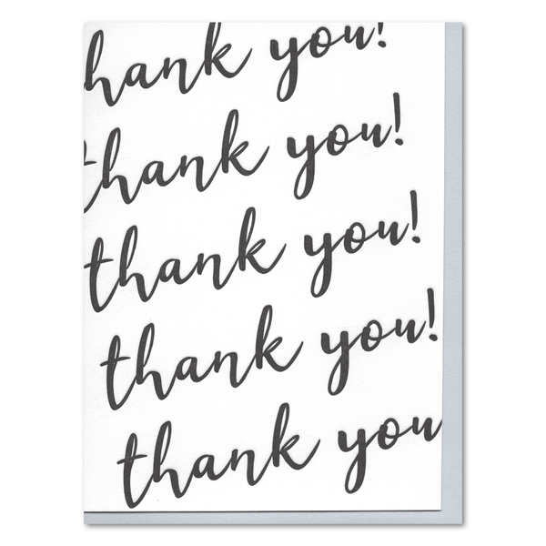 Modern Thank You Letterpress Card