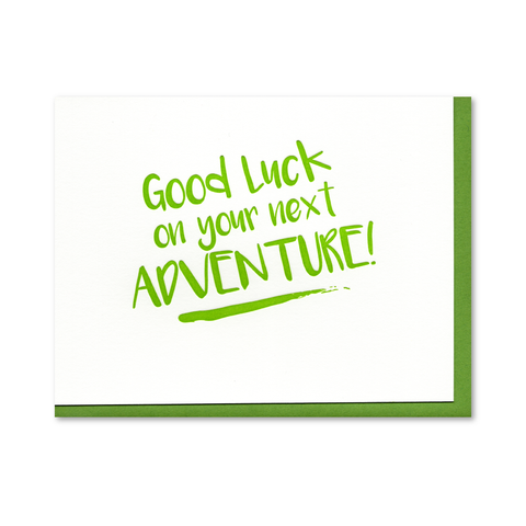 Good Luck Adventure Letterpress Card