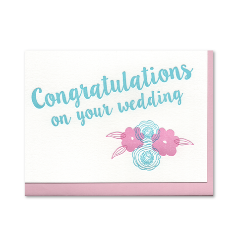 Congratulations on Your Wedding Letterpress Card